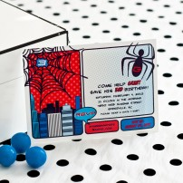 Super Spider Hero Printable Invitation